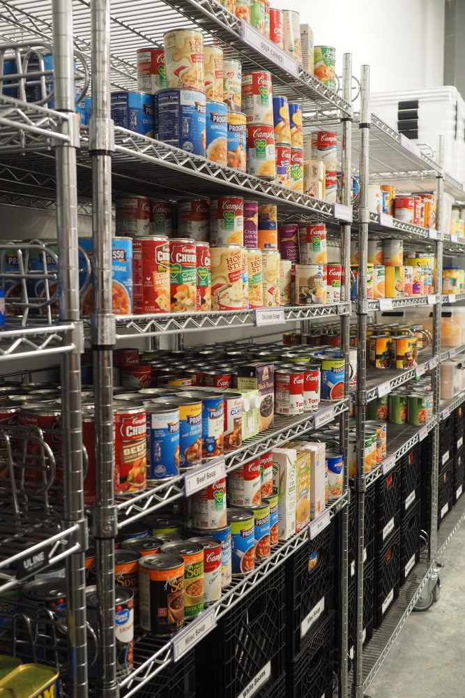Aisle with canned food
